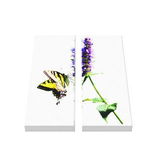 Tiger-Frack auf lila Salvia Leinwanddruck