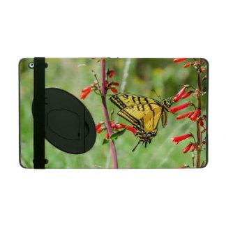 Tiger-Frack-Schmetterling und Wildblumen iPad Etui