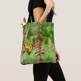 Tiger-Frack-Schmetterling und Wildblumen Tasche