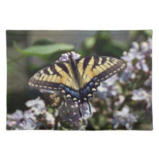 Tiger-Frack-Schmetterlings-Stoff-Tischset Stofftischset