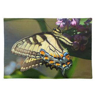 Tiger-Frack-Schmetterlings-Stoff-Tischset Tischset