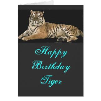 Tiger-Geburtstags-Karte Grußkarte