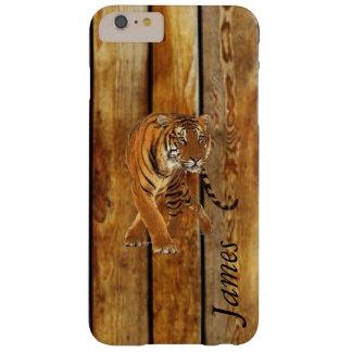 Tiger-Gehen u. vertikale hölzerne Streifen Barely There iPhone 6 Plus Hülle
