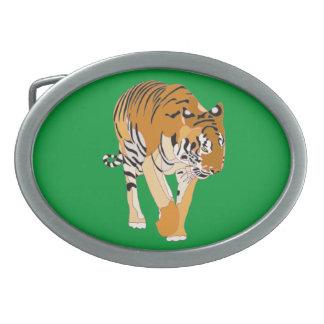 Tiger-gehende Digital-Malerei-Gürtelschnalle Ovale Gürtelschnalle