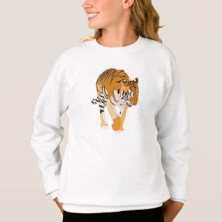 Tiger-gehende Digital-Malerei-Shirts Sweatshirt