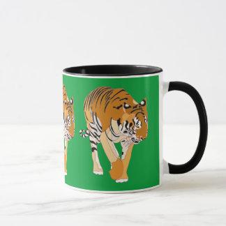 Tiger-gehende Digital-Malerei-Tassen-Schalen Tasse