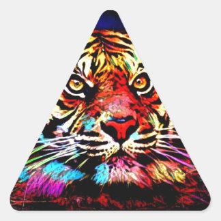 Tiger-Gesicht Dreieckiger Aufkleber