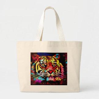 Tiger-Gesicht Jumbo Stoffbeutel