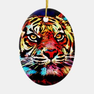 Tiger-Gesicht Keramik Ornament