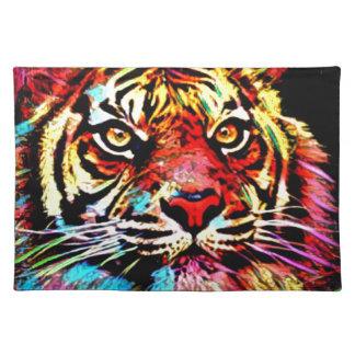 Tiger-Gesicht Stofftischset