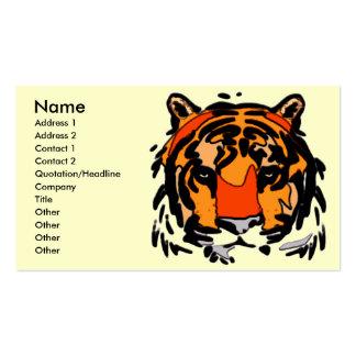 Tiger-Gesicht Visitenkarten