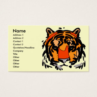 Tiger-Gesicht Visitenkarte