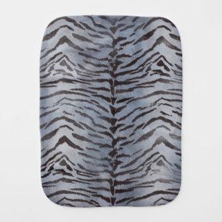 Tiger-Haut-Druck im Silber Spucktuch