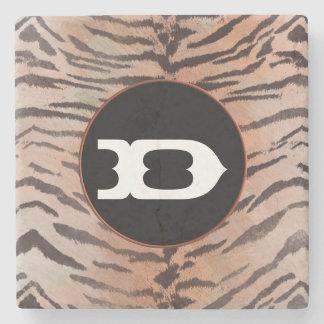 Tiger-Haut-Druck in der Aprikose Steinuntersetzer