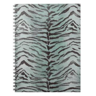 Tiger-Haut-Druck Jade in der mit Pfefferminzaroma Spiral Notizblock