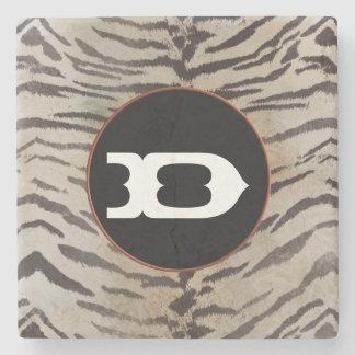Tiger-Haut im Elfenbein Steinuntersetzer