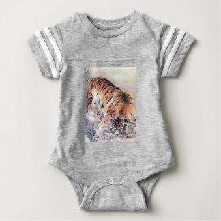 Tiger im Nebel Baby Strampler