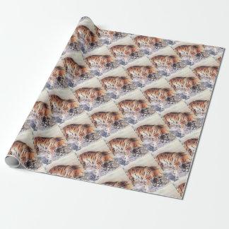 Tiger im Nebel Geschenkpapier