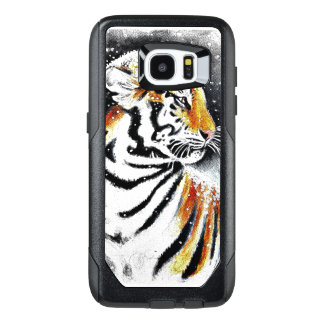 Tiger im Schnee noir