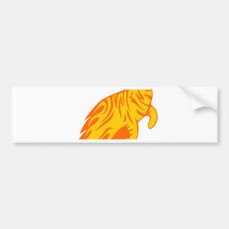 Tiger in den Flammen Autoaufkleber