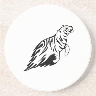 Tiger in den Flammen Getränkeuntersetzer