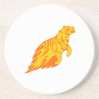 Tiger in den Flammen Untersetzer