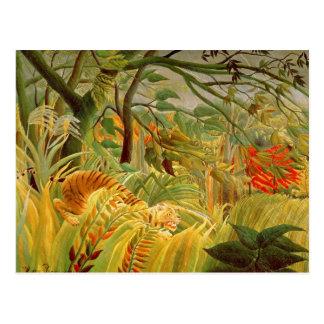 Tiger in einem tropischen Sturm 1891 Postkarten