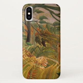 Tiger in einem tropischen Sturm durch Henri iPhone X Hülle