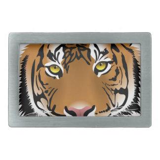 Tiger-Kopf-Druck-Entwurf Rechteckige Gürtelschnallen