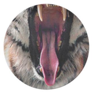 Tiger-Lager-Zähne Melaminteller