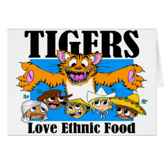 Tiger-Liebe-ethnische Nahrung Karte