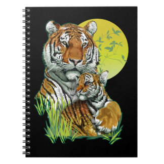 Tiger mit CUB-Notizbuch Notizblock