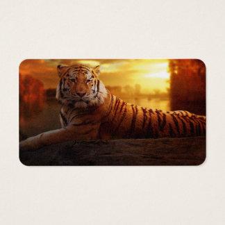Tiger mit Sonnenuntergang Visitenkarte