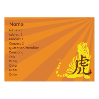 Tiger - mollig Mini-Visitenkarten