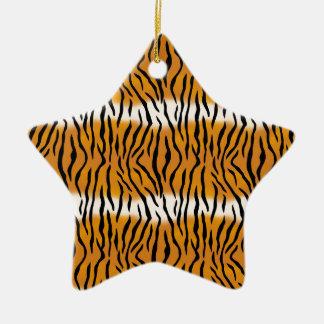Tiger-Muster Keramik Stern-Ornament