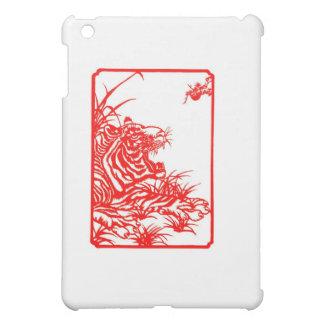Tiger-Papier-Schnitt iPad Mini Hüllen