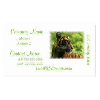 Tiger-Profil-Visitenkarten