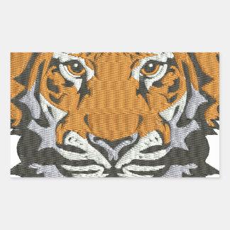 Tiger Rechteckiger Aufkleber