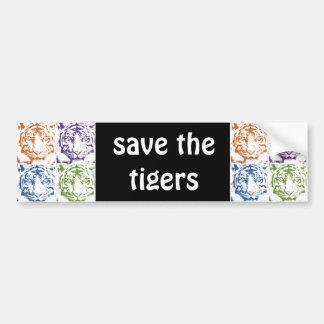 Tiger retten die Tiger Autoaufkleber
