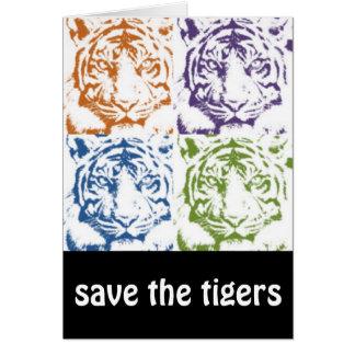 Tiger retten die Tiger Karte