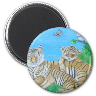 Tiger Runder Magnet 5,1 Cm