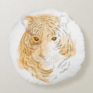 Tiger Rundes Kissen