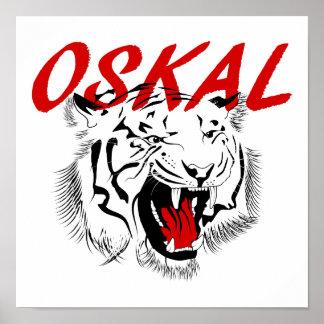 Tiger-russische Gefängnis-Tätowierung Poster