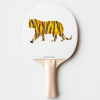 Tiger-schwarzer und orange Druck Tischtennis Schläger