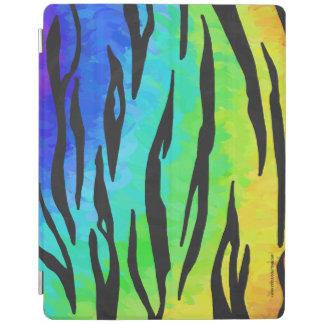 Tiger-Schwarzes und Regenbogen-Material iPad Hülle