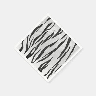 Tiger-Schwarzweiss-Druck Papierservietten