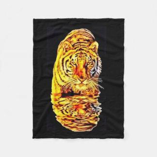 Tiger-Spiegel-Kunst Nouveau Fleece-Decke Fleecedecke