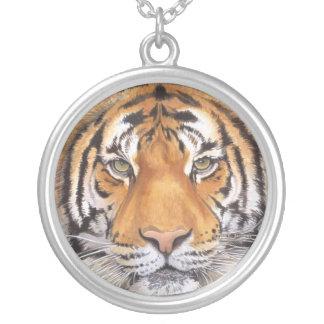 Tiger-Stellen-Halskette Versilberte Kette