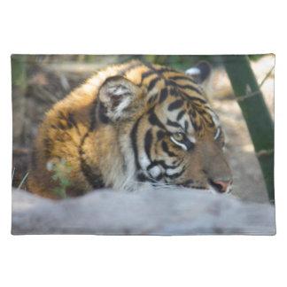 Tiger Stofftischset