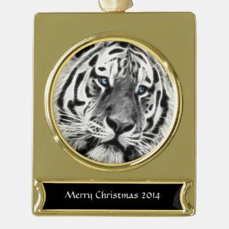 Tiger-Streifen Banner-Ornament Gold